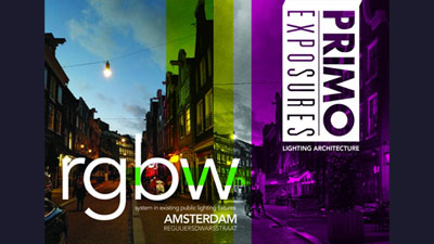 Amsterdam streetcolor project: color changing LED lighting adaptable to social situations