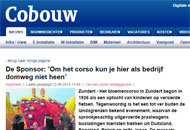 Sponsorship Zundert Flower Parade 2014 - published in Cobouw online magazine.