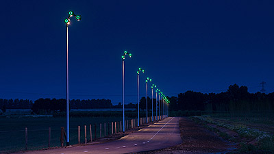 Rijnwaalpad - lighting the fast speed cycle track