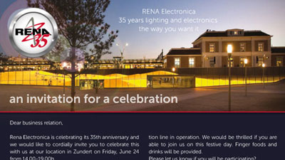 RENA celebrating its 35-year anniversary